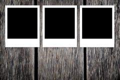 空白构成即时照片 免版税库存照片
