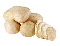 空白查出的土豆 库存照片
