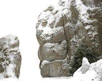 空白查出的岩石 库存照片