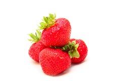 空白查出的成熟的草莓 库存照片
