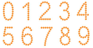 空白查出的编号橙色的片式 免版税图库摄影