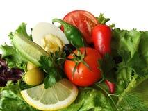 空白查出的蔬菜 免版税库存图片