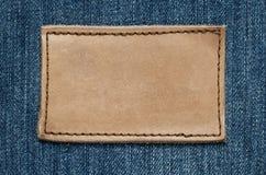 空白标签皮革 免版税库存照片