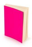空白桃红色书盖子剪报路径 免版税库存图片