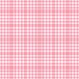 空白桃红色格子花呢披肩的seamles 免版税库存照片