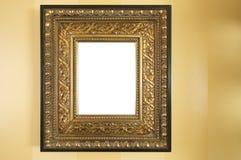 空白框架华丽照片墙壁 库存照片