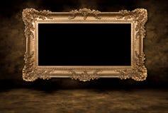 空白框架照片葡萄酒 库存图片