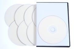 空白案件CD的盘dvd 图库摄影