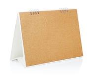 空白桌面日历。 免版税库存照片