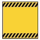 空白模板警告 库存图片