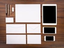 空白模板 包括名片, 免版税库存图片