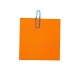 空白橙色纸张 图库摄影