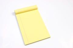 空白水平的页黄色 免版税库存图片