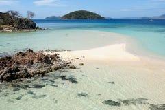 空白沙子海滩海岛 免版税图库摄影