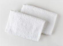 空白温泉的毛巾 免版税图库摄影