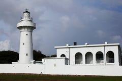 空白灯塔在南台湾 免版税图库摄影