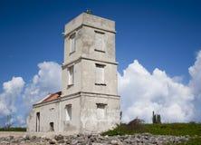 空白灯塔-博内尔岛 免版税库存照片