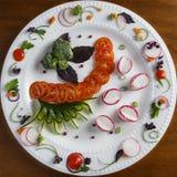 空白牌照的蔬菜 库存图片