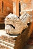 空白狮子雕象 免版税库存图片