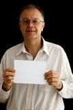 空白现有量供以人员纸张 免版税库存照片