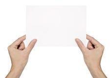 空白现有量藏品查出的纸张 免版税图库摄影