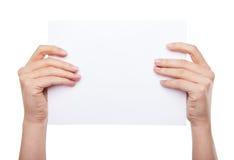 空白现有量藏品查出的纸张 免版税库存图片