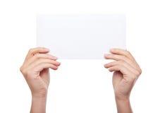 空白现有量藏品查出的纸张 库存照片