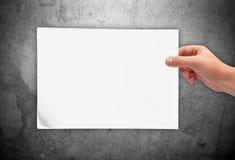 空白现有量藏品纸张 免版税库存照片