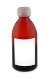 空白玻璃瓶标签 免版税图库摄影