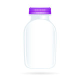 空白瓶查出的酸奶 免版税库存图片