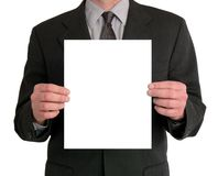 空白生意人介绍 库存照片