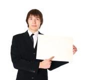 空白生意人列表纸张 免版税库存图片