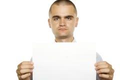 空白生意人符号 免版税库存照片