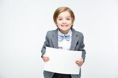 空白男孩看板卡 免版税库存图片