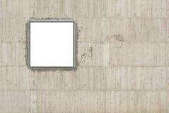 空白画布混凝土墙 免版税图库摄影