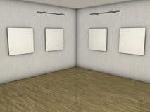 空白画廊 库存照片