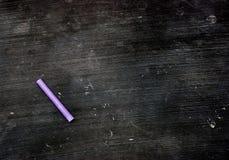 空白白垩黑板紫色 库存照片