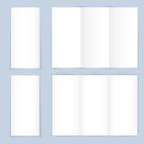 空白的三部合成的纸传单 图库摄影