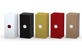 空白的与裁减路线的箱子包装的集合新的设计  库存照片