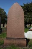 空白的严重石头在坟园 免版税库存照片