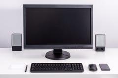 空白的个人计算机显示器 免版税库存图片