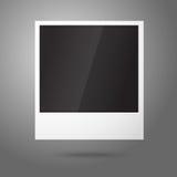 空白的传染媒介立即照片框架在天空中 免版税库存图片