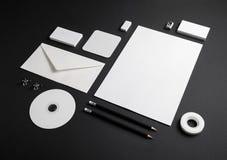 空白的公司文具 图库摄影