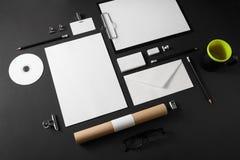 空白的公司文具 免版税库存图片