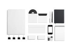 空白的公司ID集合 免版税库存照片