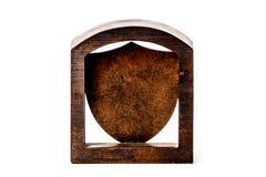 空白的古铜色冠匾 免版税库存图片