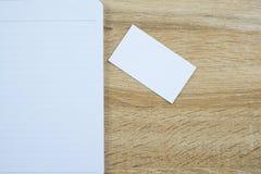 空白的名片或名片与空间为增加文本名字广告 免版税库存照片