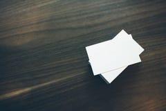 空白的名片照片  免版税图库摄影