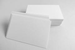空白的名片,与软的阴影的明信片 库存照片