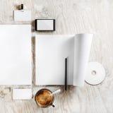 空白的品牌身份照片  免版税库存照片
